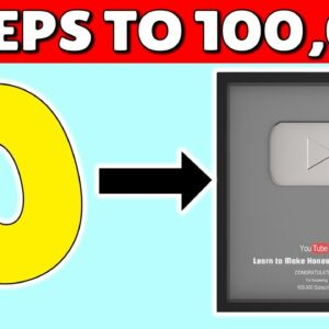 How To Get 100,000 Subscribers on YouTube (3 SECRETS!)