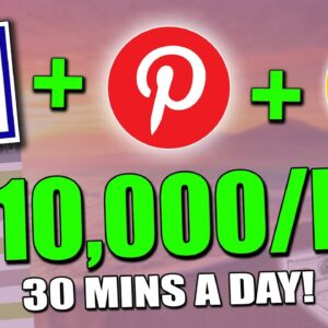 EASIEST Way To Make Money On Pinterest With CLICKBANK & GOOGLE = $500/Day (Pinterest Tutorial)
