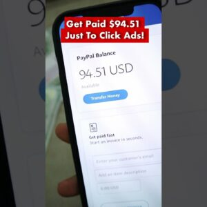 Get Paid $94.51 Just Clicking Ads! #shorts